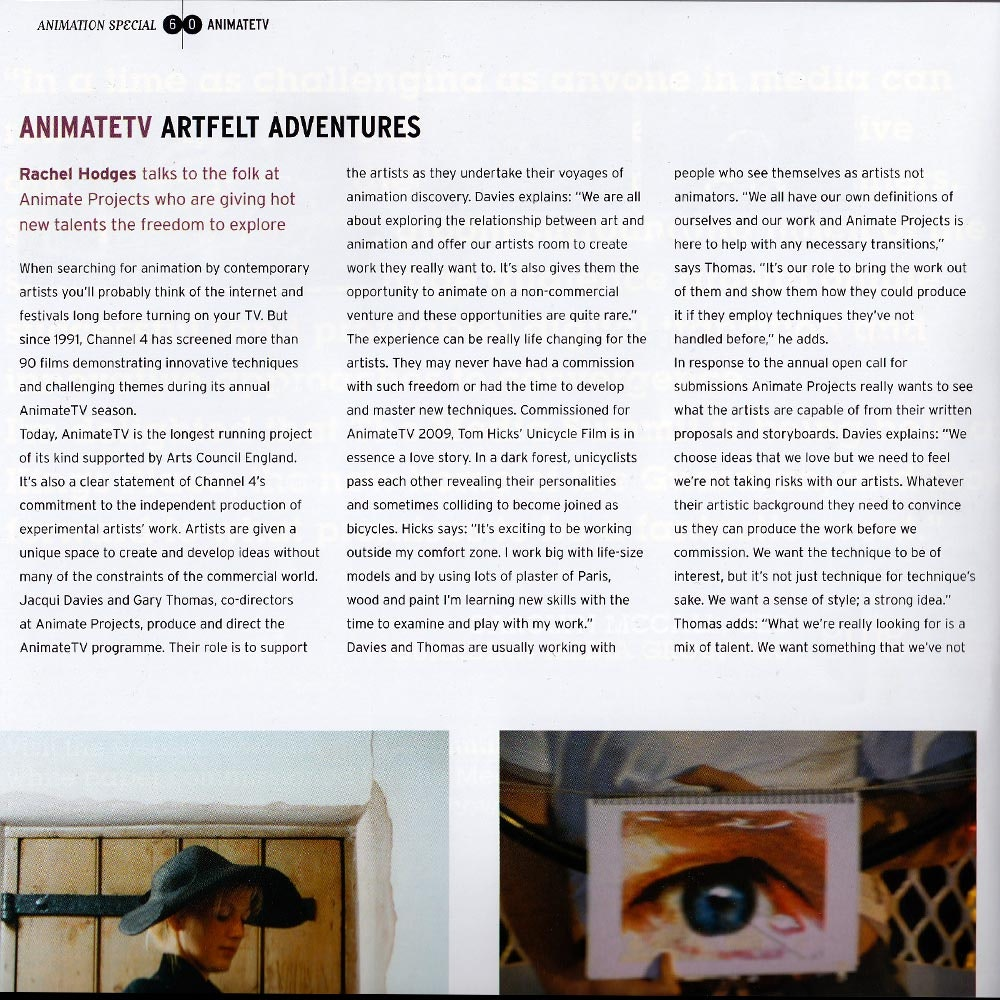 SHOTS ANIMATE TV ARTICLE