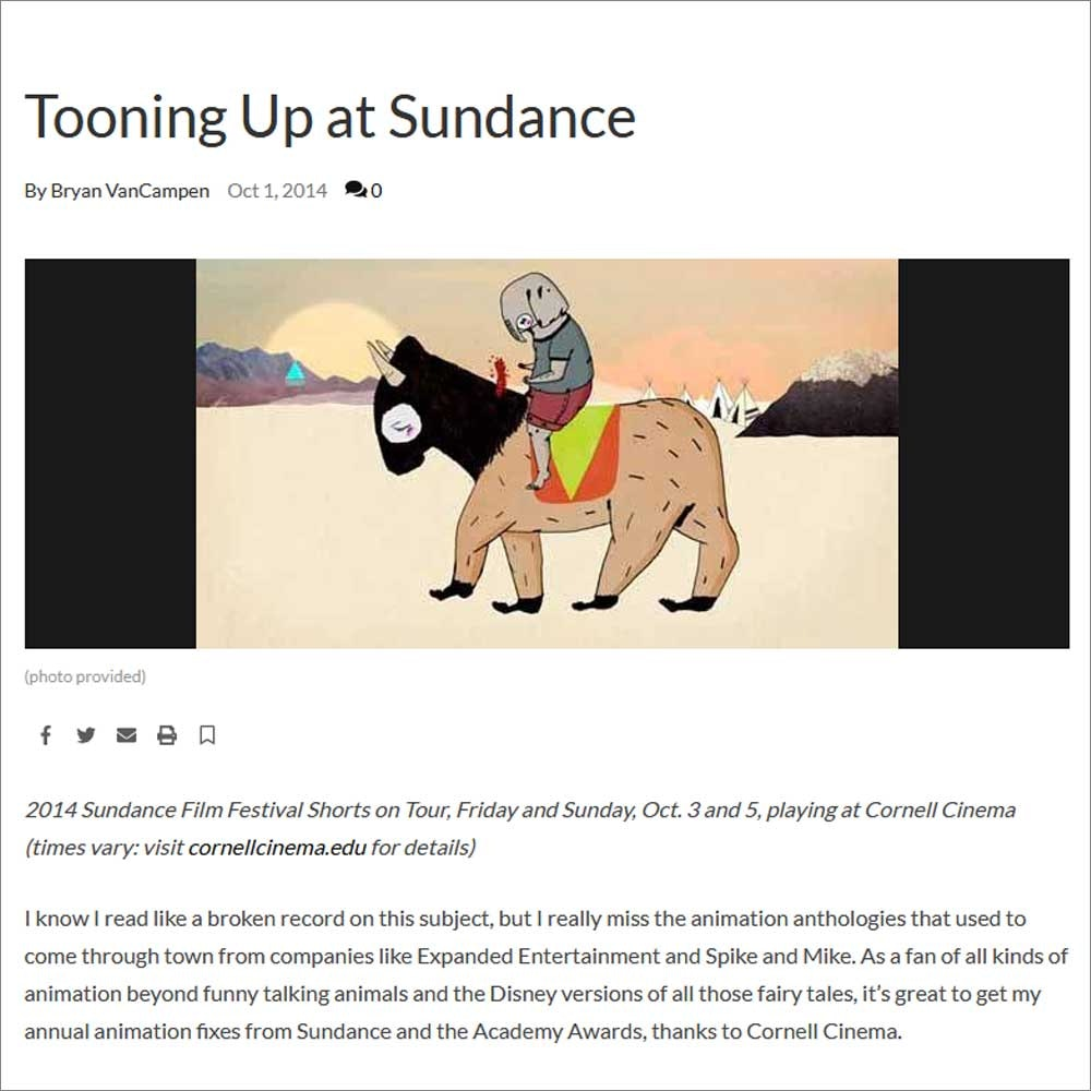 SUNDANCE SHORTS TOUR 2014