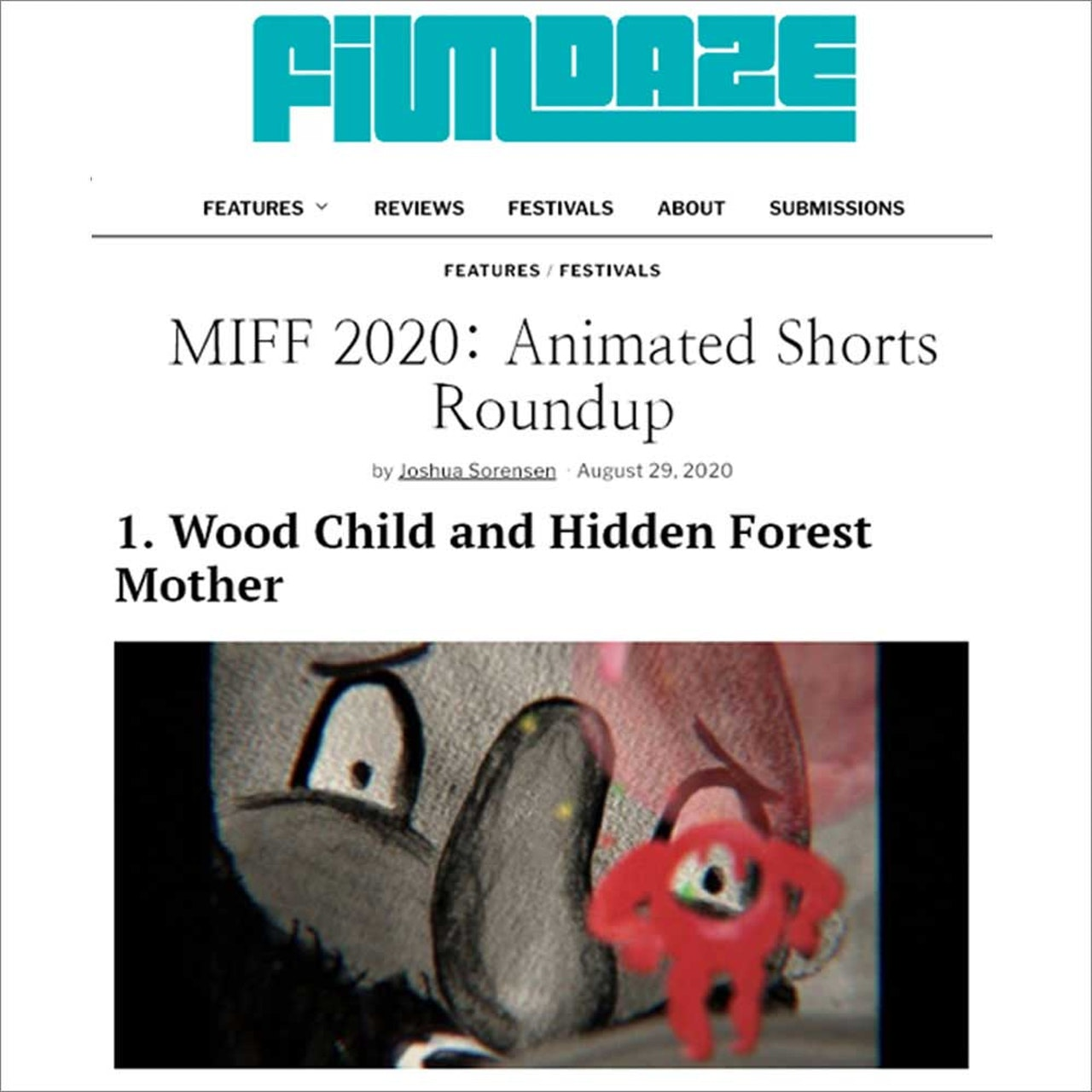 WOOD CHILD REVIEW - MIFF 2020