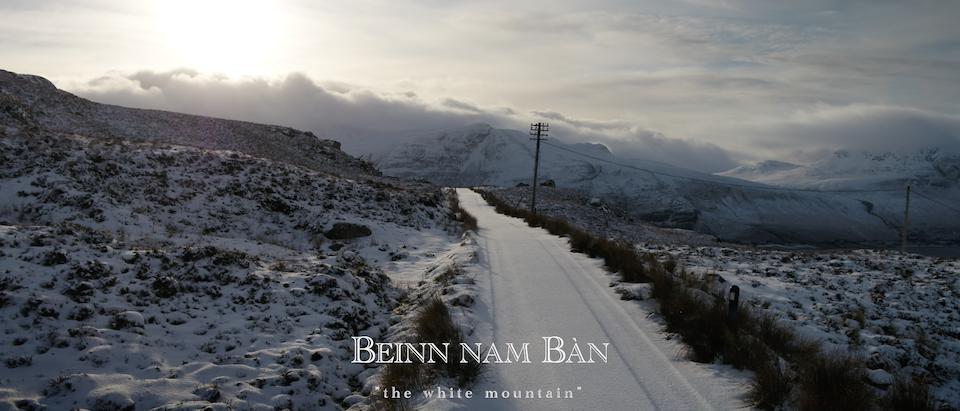 """Beinn nam Ban. """"the white mountain"""" -"""