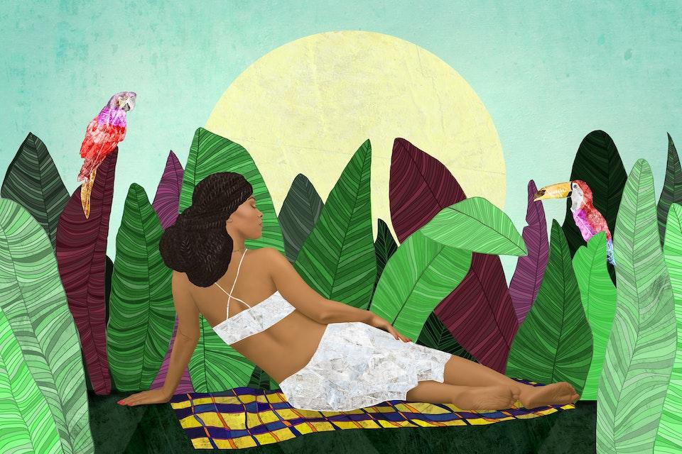 PAINTING - FOR WEB - Mariona Lloreta, Fim de Tarde em Manaus - Tayane, 2017