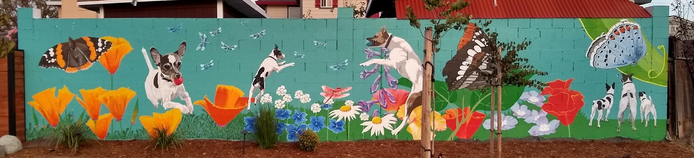 Working Artist Decorating - Jack Russells in Action