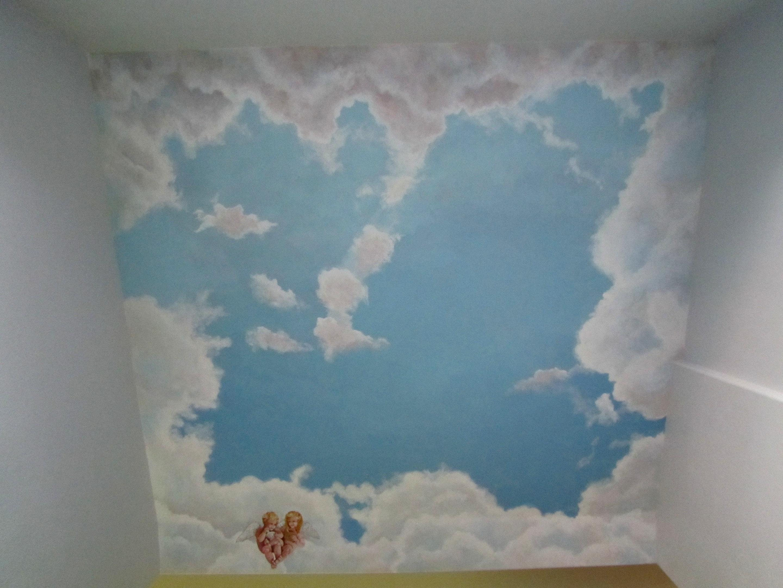 Working Artist Decorating - Angels in Heaven