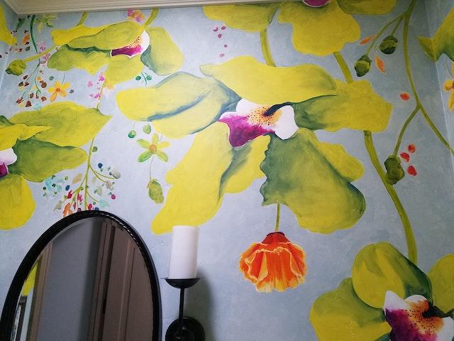 fantasy orchids mirror wall