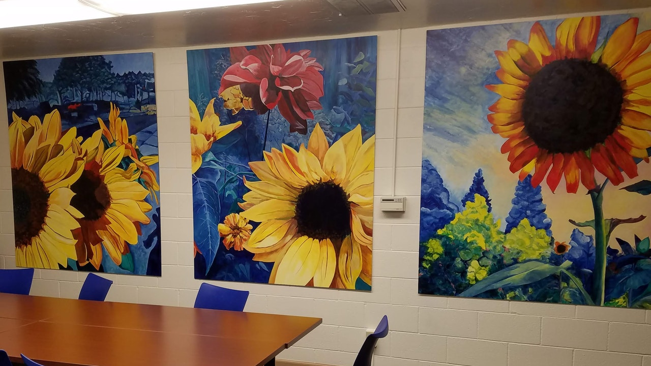 Conference Room Sunflowers