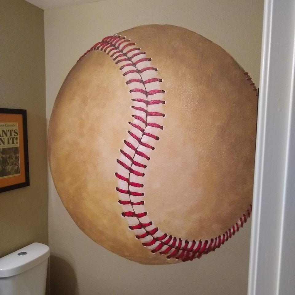 Working Artist Decorating - Baseball Bathroom