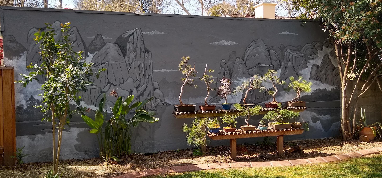 Working Artist Decorating - Bonsai Backdrop