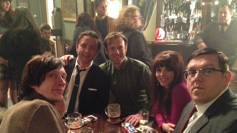 Behind The Scenes - Happy memories of this shoot in a fake pub with Nick Frost, Peter Serofinowicz, Ophelia Lovibond & Laurie Lewin