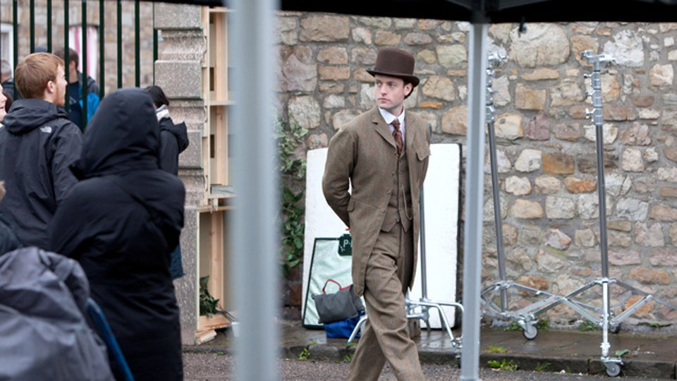 Behind The Scenes - From the episode The Crimson Horror by Mark Gatiss. Playing twins the Thursday brothers - this is the more outgoing brother.