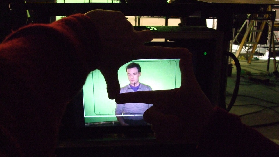 Behind The Scenes - Through the video assist.