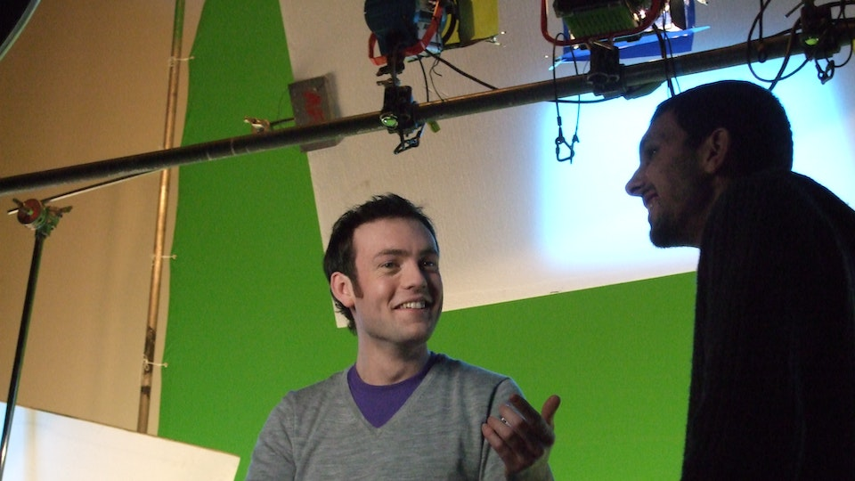 Behind The Scenes - Dynamo and I share a joke about advanced sleight of hand - you had to be there!