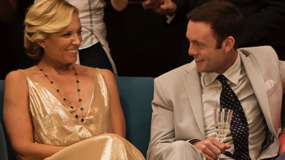Behind The Scenes - Toni Collette and I share a laugh. With writer & director Amanda Sthers & Harvey Keitel