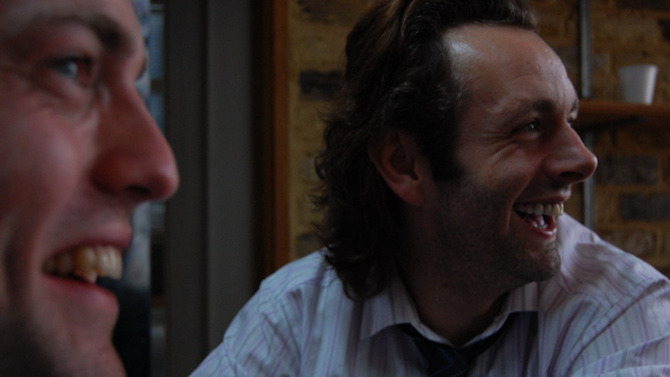 Behind The Scenes - Michael Sheen & I laugh with our friend Director Julian Kemp between takes