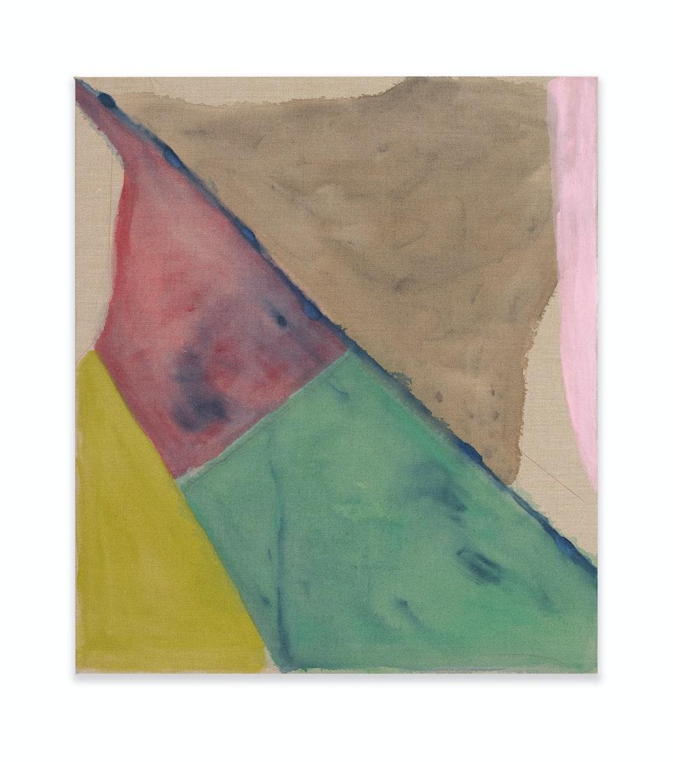 works I - ERTZ- event, 2021, 80x70 cm, acrylic, color pencil and oil paint on linen.