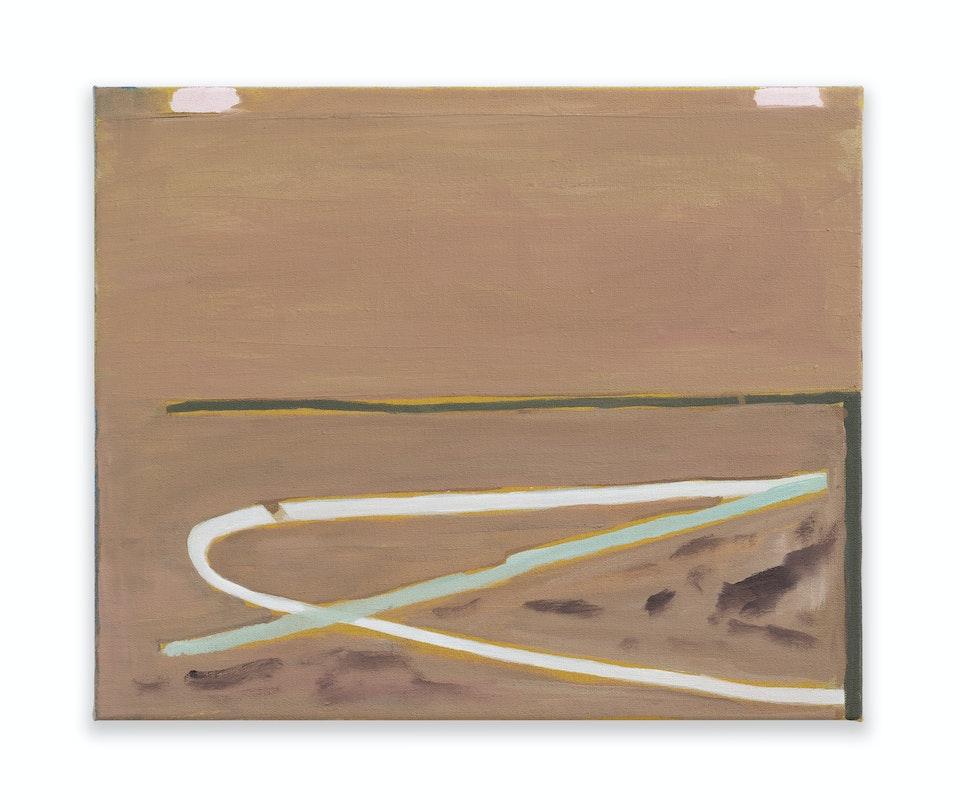 works II - Huida, 2021, 38x46 cm, oil paint on linen.