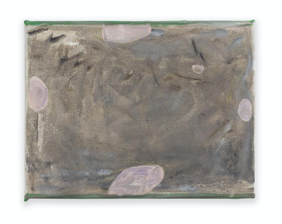 works I - Azala - for Francis Ponge, 2021, 27x35 cm, oil paint and colour pencil on linen.