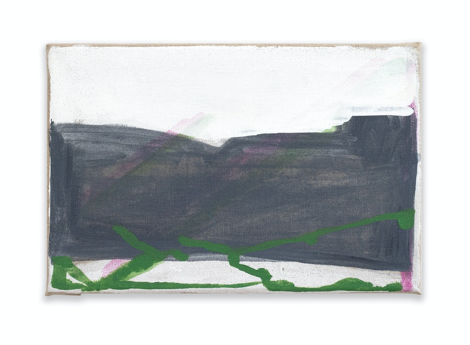 works I - Weight, 2020, 33x22 cm, acrylic and oil paint on linen.