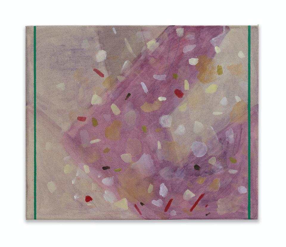 works I - Baratze - Messiaen, 2021, 46x55 cm, acrylic, oil paint and colour pencil on linen.