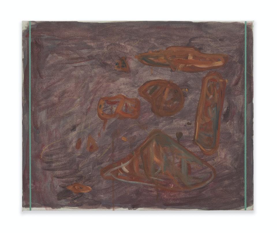 works II - Baratze, 2021, 50x60 cm, acrylic, oil paint and colour pencil on linen.