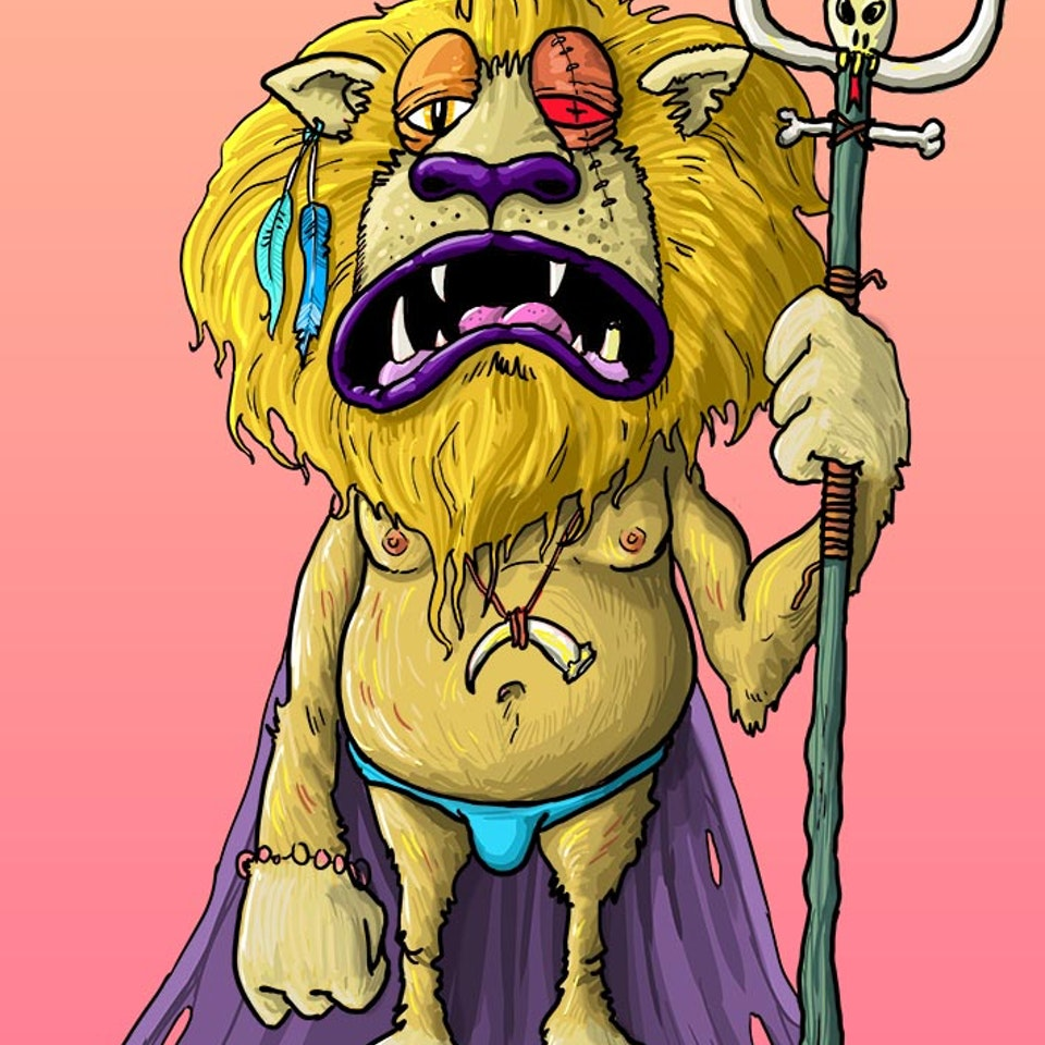 CHARACTER DESIGN - Lion King A4 for Fabrik site