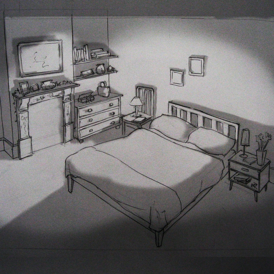 Nectar - Gift Horse - Bedroom Set Sketch 1