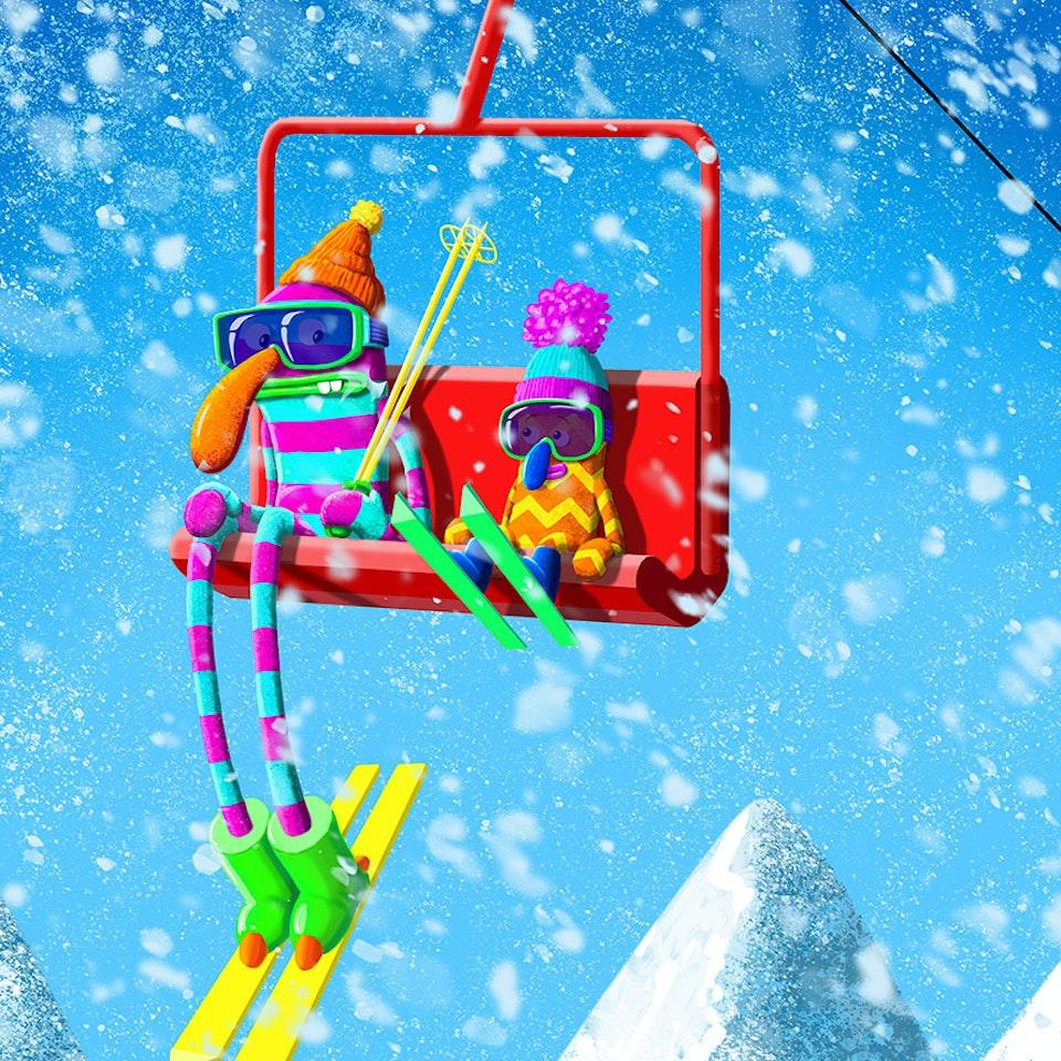 CHARACTER DESIGN - 80's Ski-bods