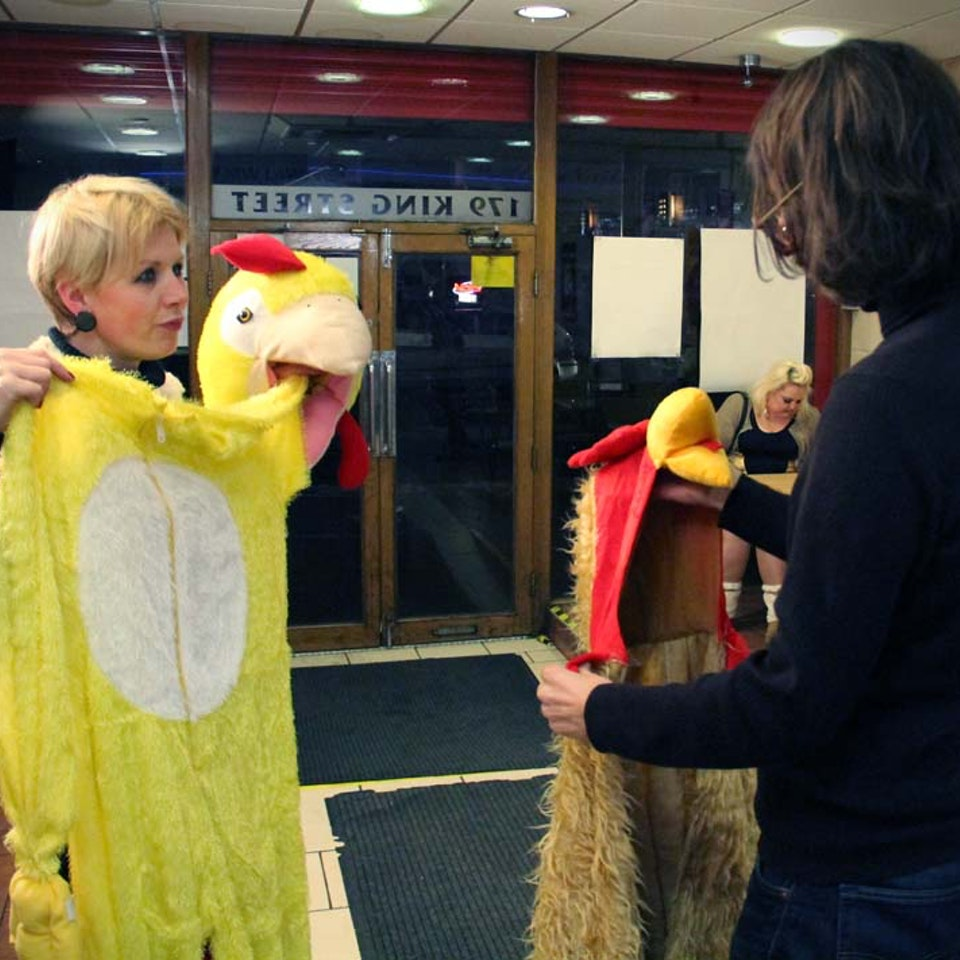 Pat Cahill - Chicken Shop - BBC3 - Chicken Outfit