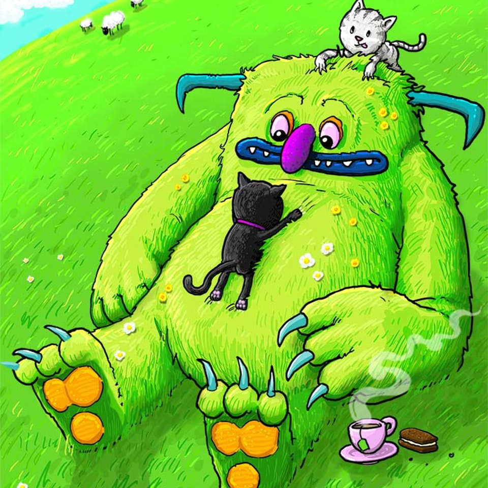 CHARACTER DESIGN - Monster and Kittens 01 small