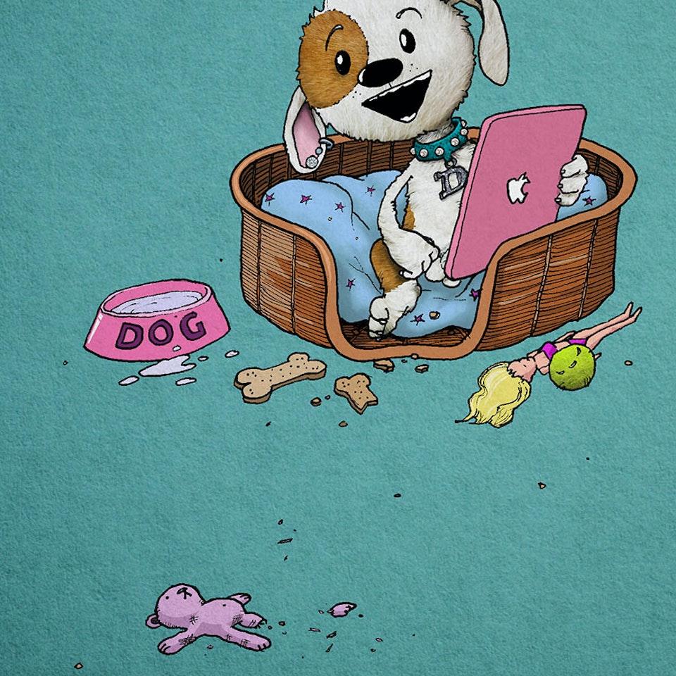 CHARACTER DESIGN - Dog Mockup 04 SMALL for directors website