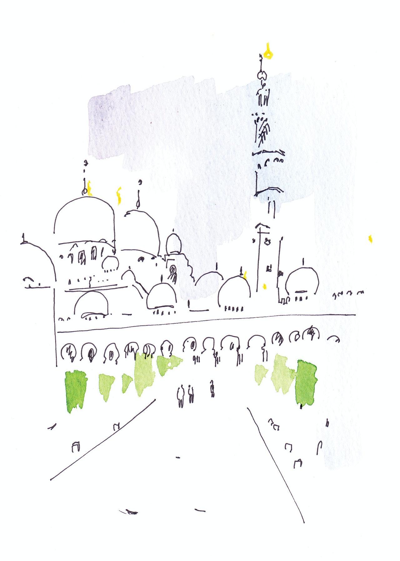 Abu Dhabi Christmas card commission