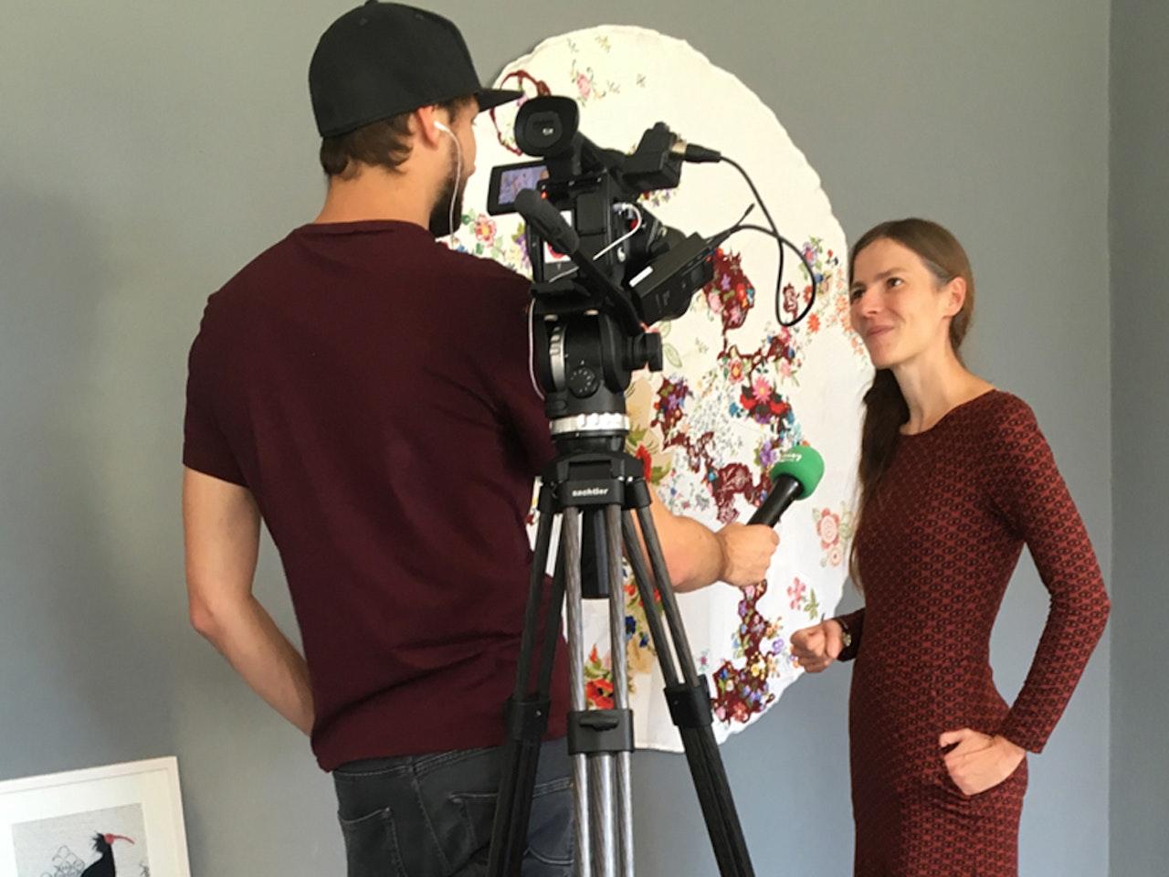 """Eröffnung: """"Fäden"""" - Lisa Reichmann Textilkunst  Anhaltinischer Kunstverein Dessau"""