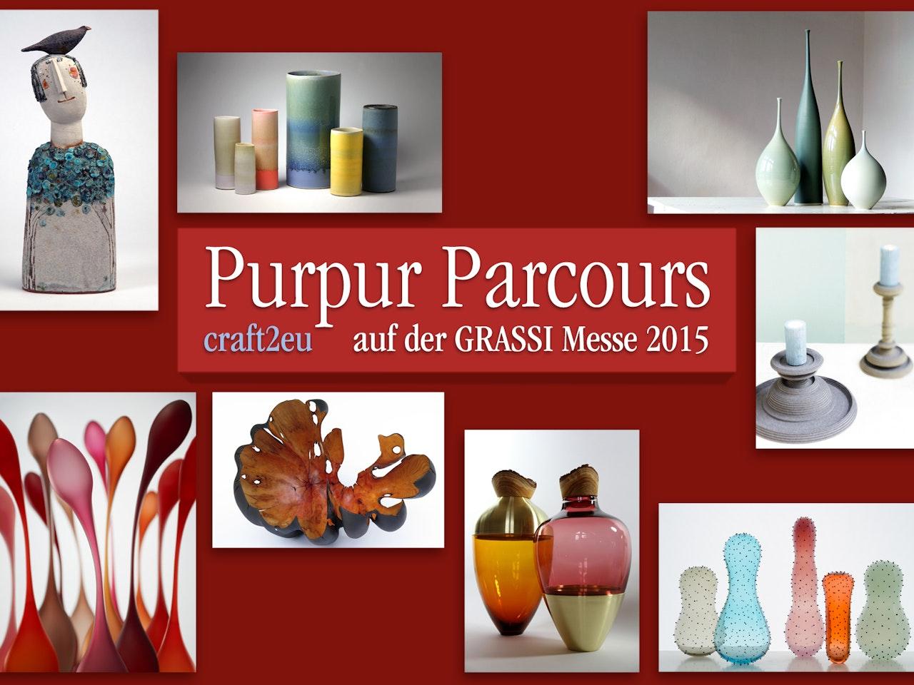 """""""Purpur Parcours"""" zur GRASSI-Messe 2015"""