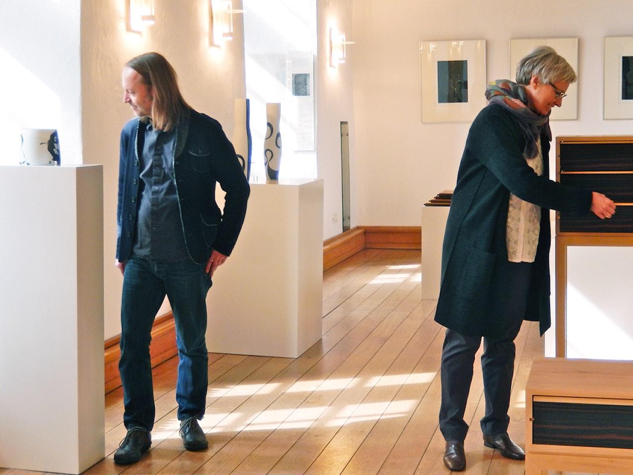 Eröffnung UNIKATE - Martin Wilmes & Karin Bablok   Schloss Landestrost, Neustadt am Rbg