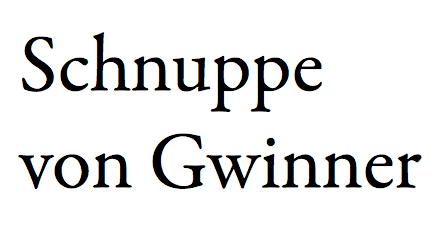 Schnuppe von Gwinner