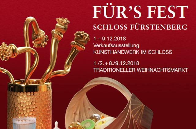 Für's Fest – Schloss Fürstenberg  - Verkaufsausstellung zur Weihnachtszeit