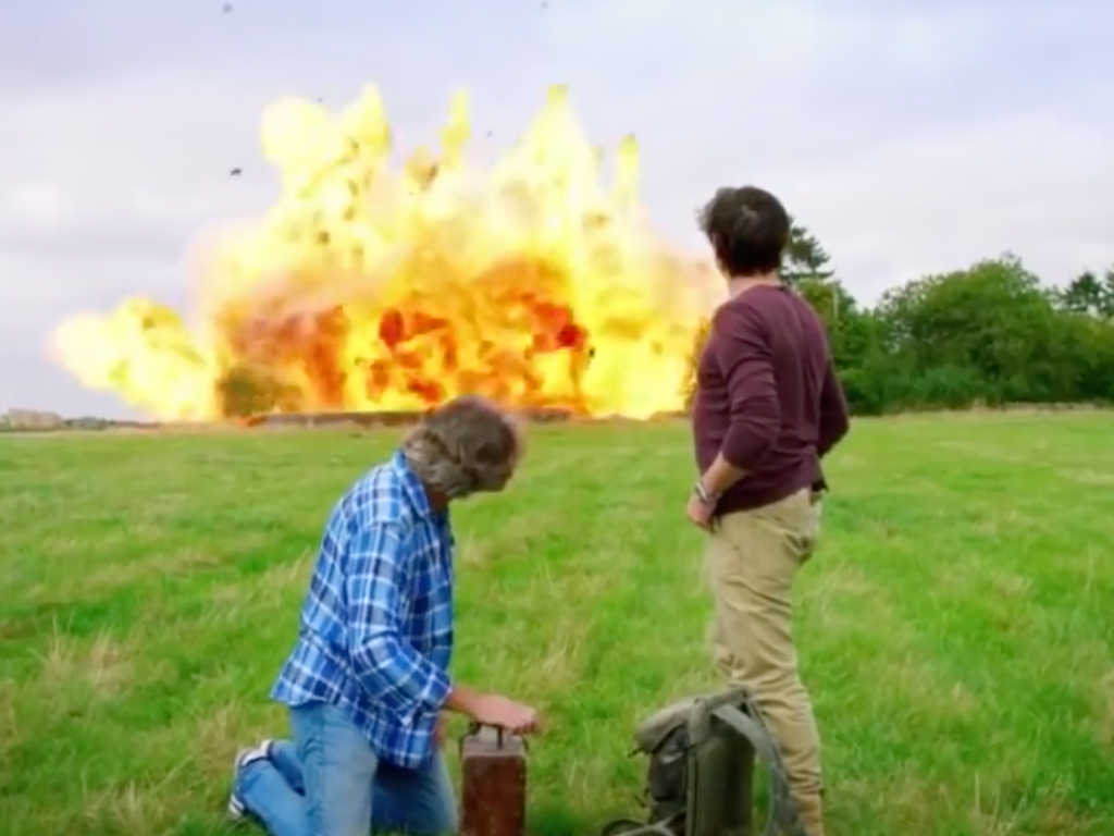 Blowing up Clarkson's house