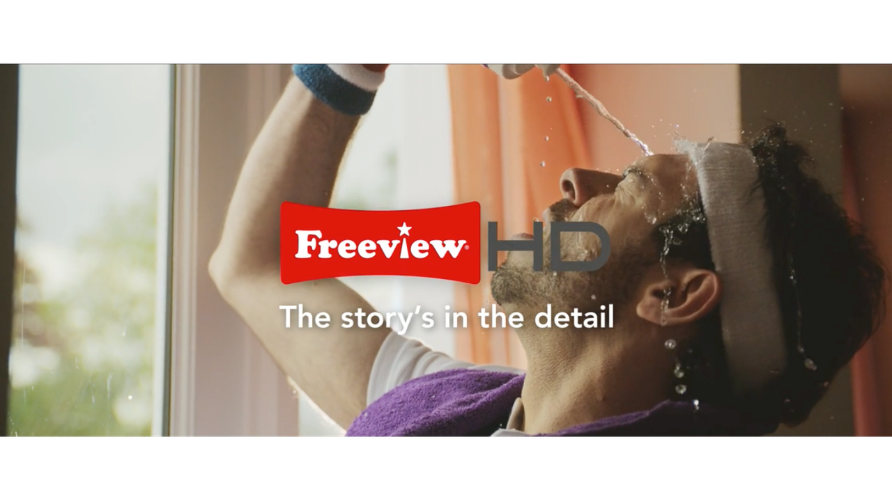 Commercial for Freeview HD 'ENHANCE THE DRAMA''