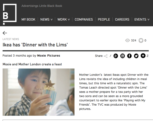Little Black Book on Ikea - Dinner with the Lims