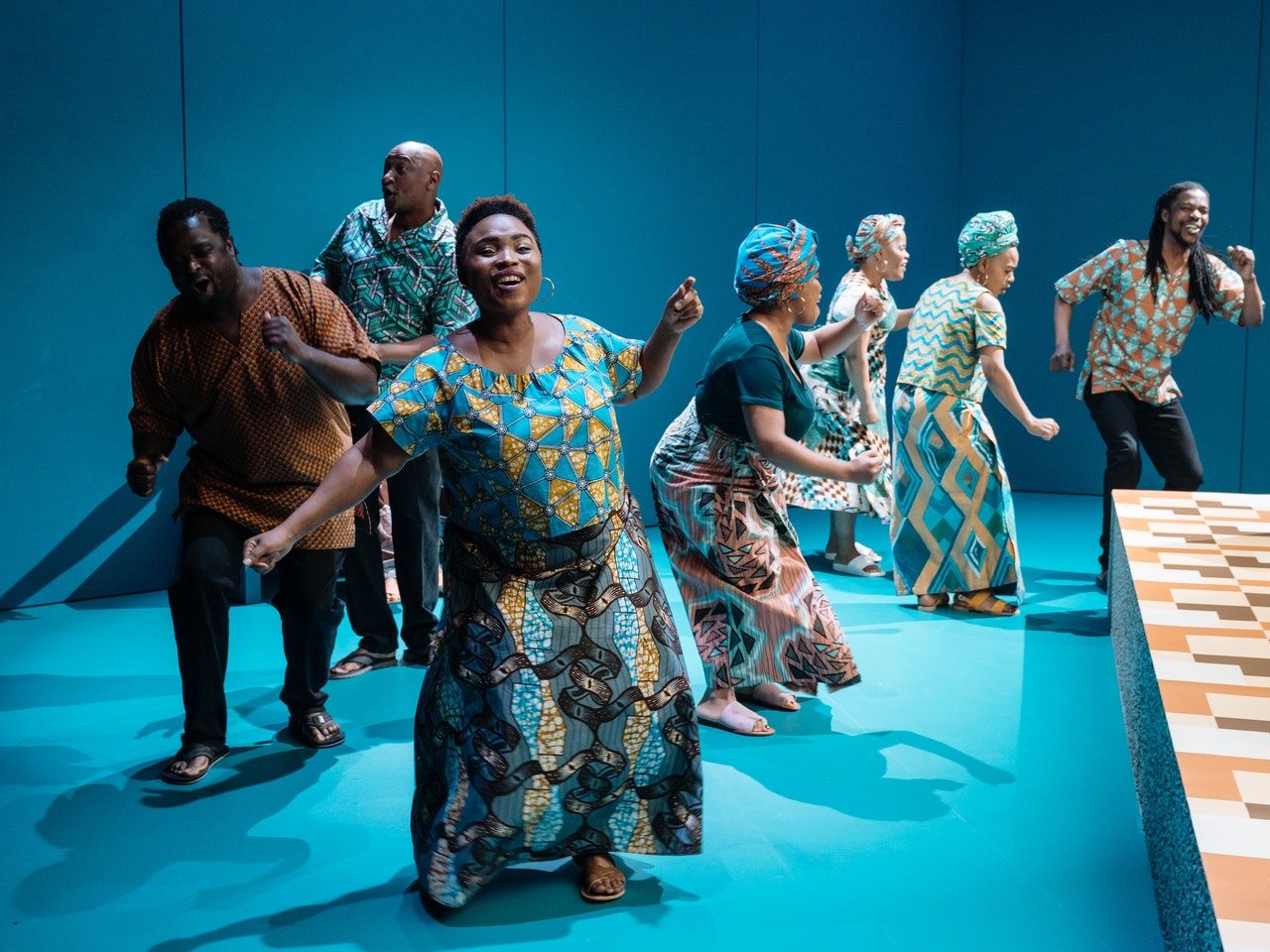 The South African Cultural Choir in 'generations' at Chichester Festival Theatre Photo Manuel Harlan-052