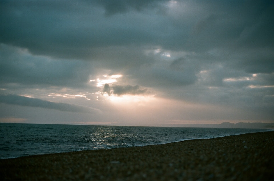 Website graded-19 - Chesil Beach. Dorset. 35mm Portra 400