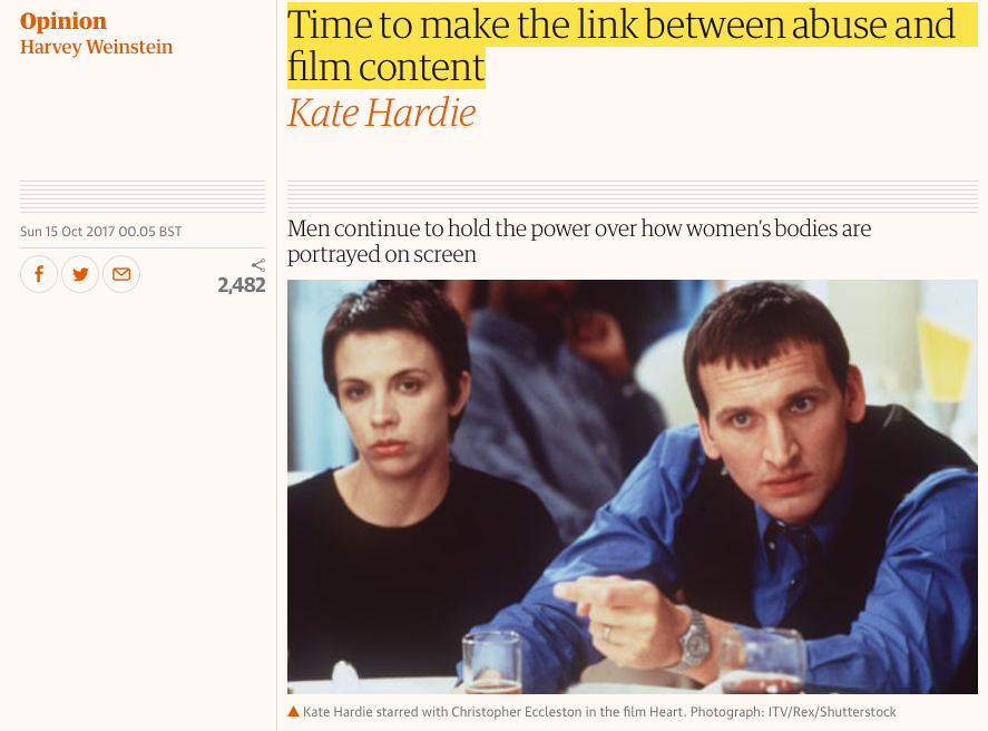 Opinion piece for The Guardian, 2017