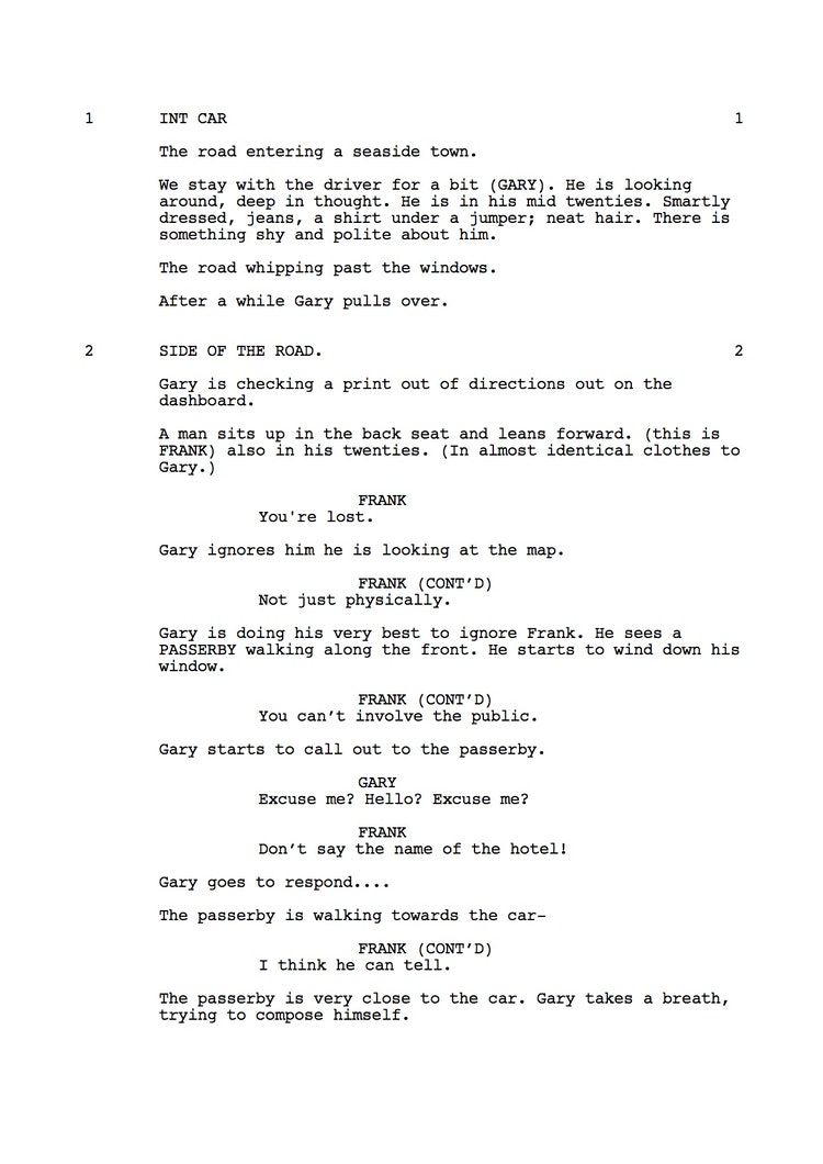 Mr Understood 23rd Shooting Script p2