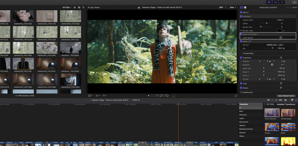 Editing and Grading in FCP X
