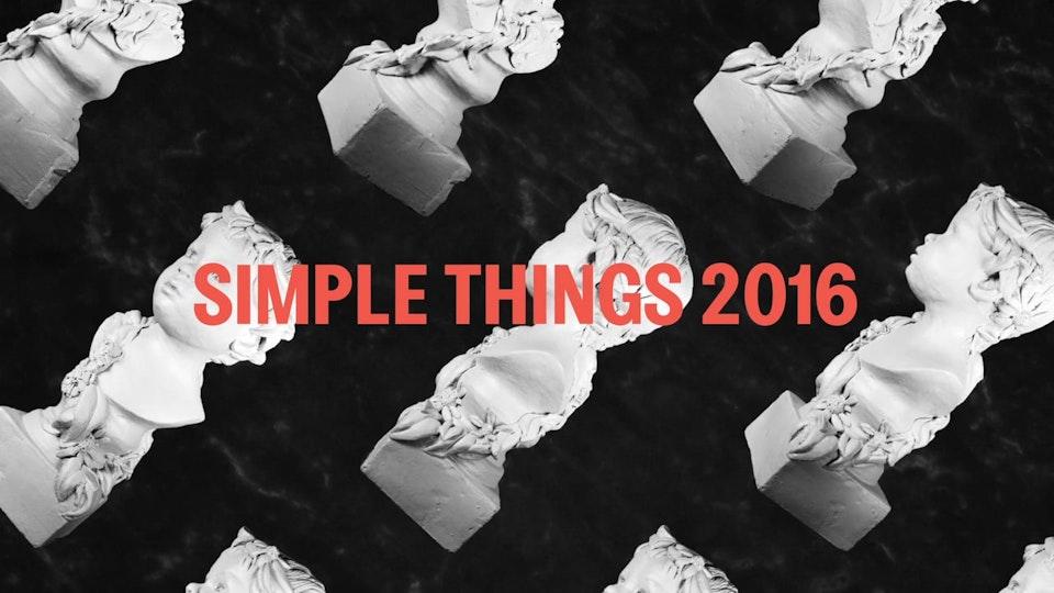Simple Things 2016