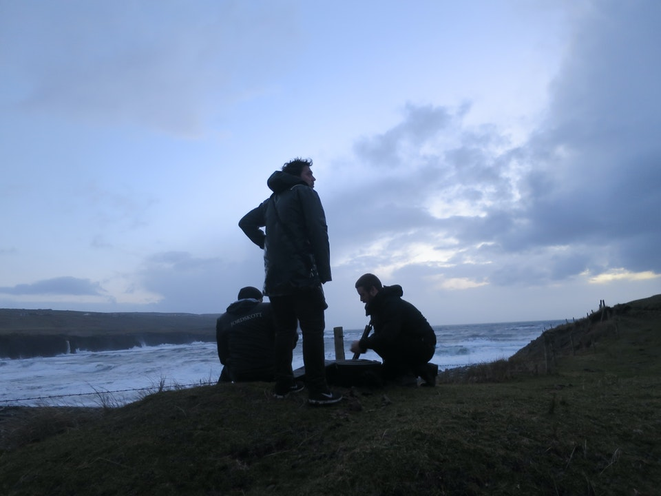 Sebastian Reed, DOP Viktor and B Foto Simon at Cliffs of Moher, Ireland.