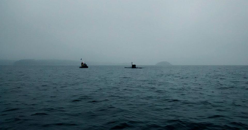 Oskar's submarine shoot in Djurö for Pim Stones
