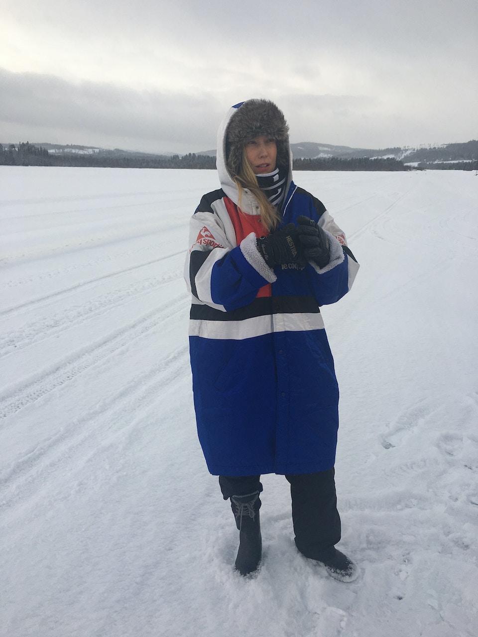 Trentemøller 'River In Me' director Åsa Riton braving it on set in Åre