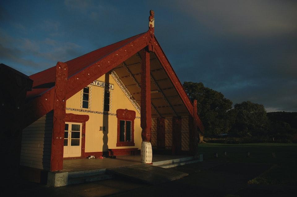 patu ihu  - Otiria Marae wharenui (meeting house)
