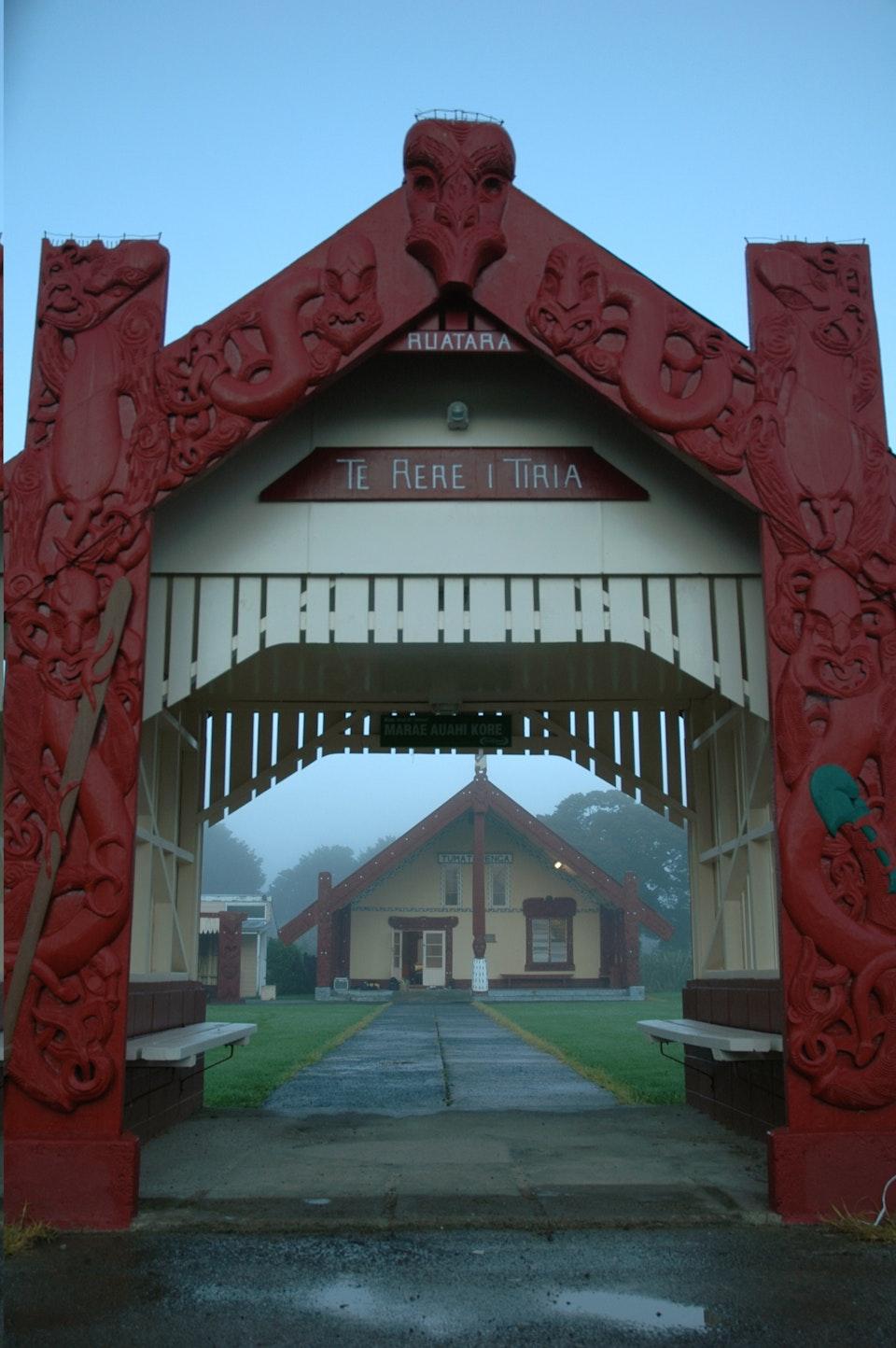 patu ihu  - Otiria Marae entrance