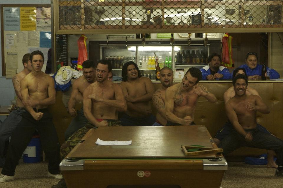patu ihu  - Rugby team giving thanks